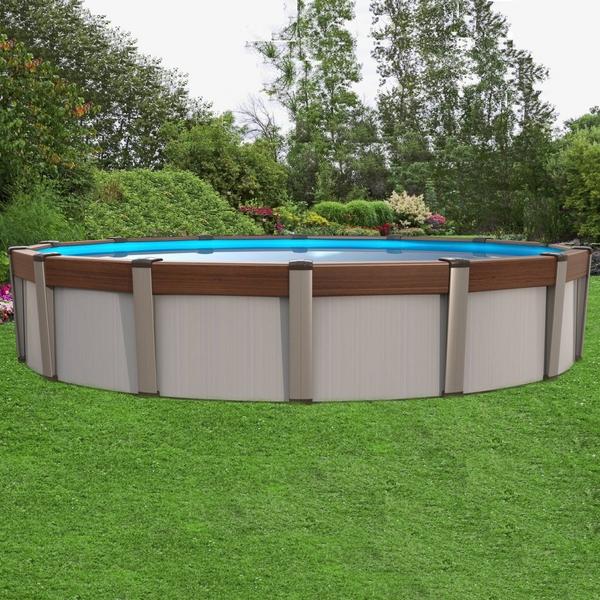 Contempra 24 39 x 52 above ground swimming pool by aqua for Contemporary above ground pools