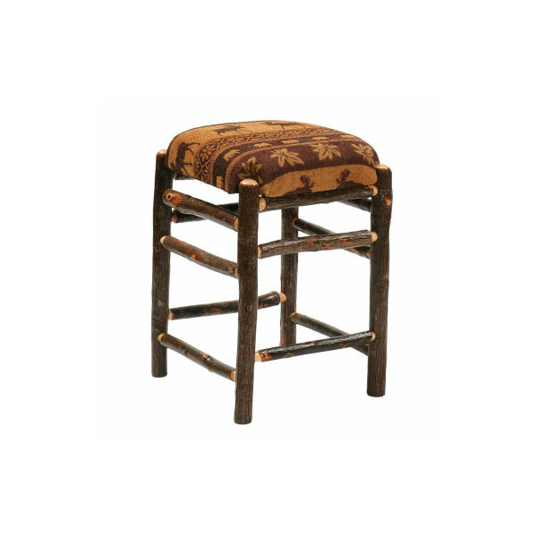 Hickory Square Backless Counter Stool By Fireside Lodge Furniture Family Le