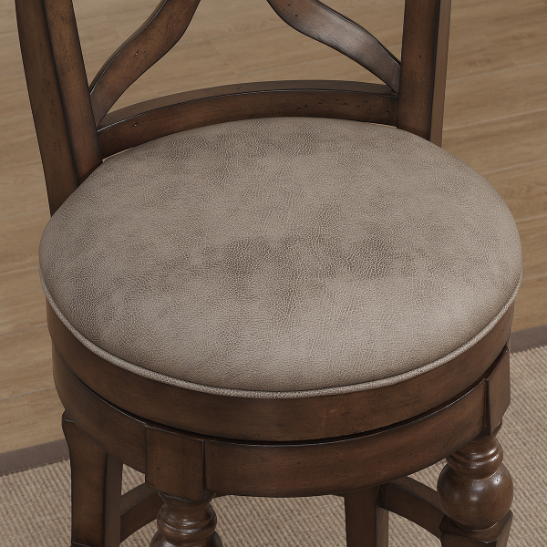 Livingston Collection Sienna Bar Stool With Camel Cushion