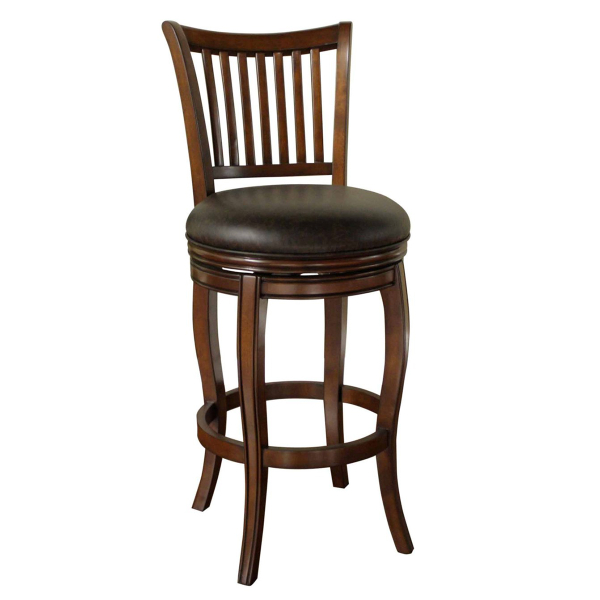 Maxwell Wood With Swivel Stool Suede By American