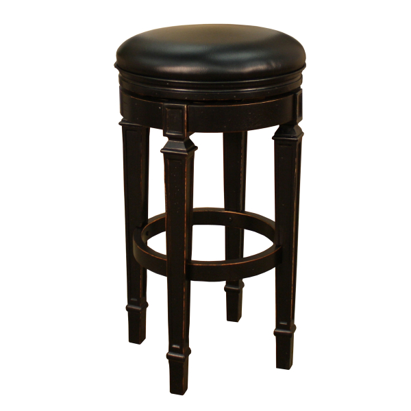 Oxford Antique Black Bar Stool By American Heritage