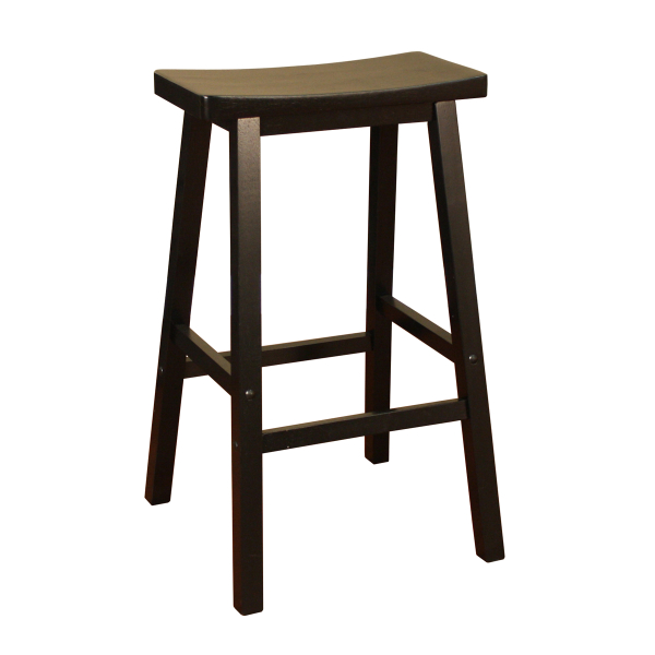 Wood Saddle Black Bar Stool by American Heritage  : Bar Stools Wood Saddle Black 7004 from www.familyleisure.com size 600 x 600 jpeg 103kB