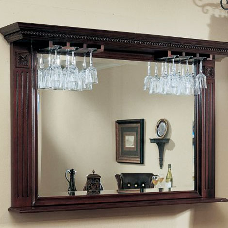 free shipping bars by american heritage napoli bar mirror. Black Bedroom Furniture Sets. Home Design Ideas