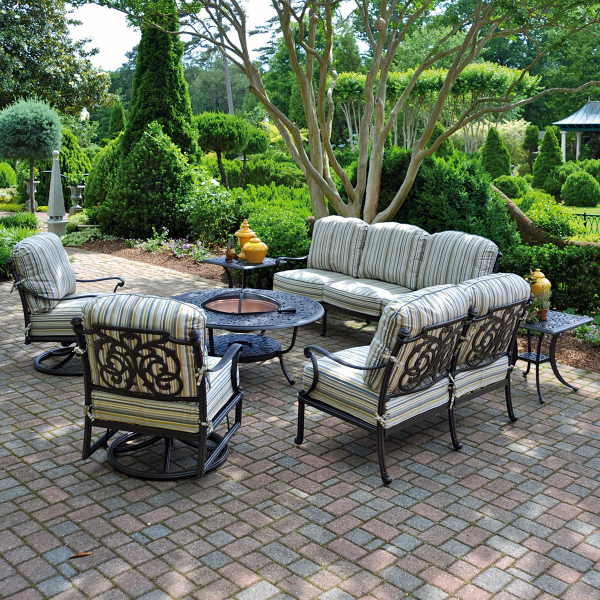 St Augustine Deep Seating Cast Patio Furniture By
