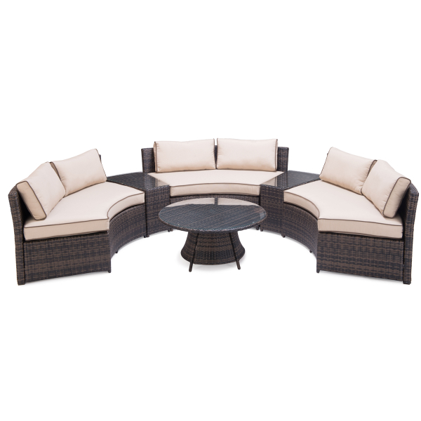 Byron Bay 6 Piece Wicker Deep Seating By Zuo Modern Family Leisure