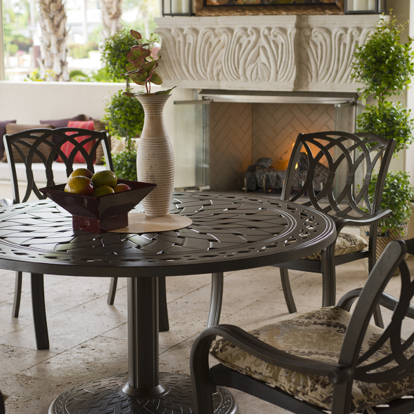 Ocala Cast Aluminum Dining Collection By Telescope Casual Family Leisure