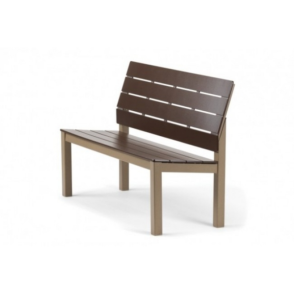 Chandler MGP Aluminum Armless Bench by Telescope Casual