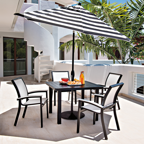 Bazza Mgp Aluminum Dining Collection By Telescope Casual