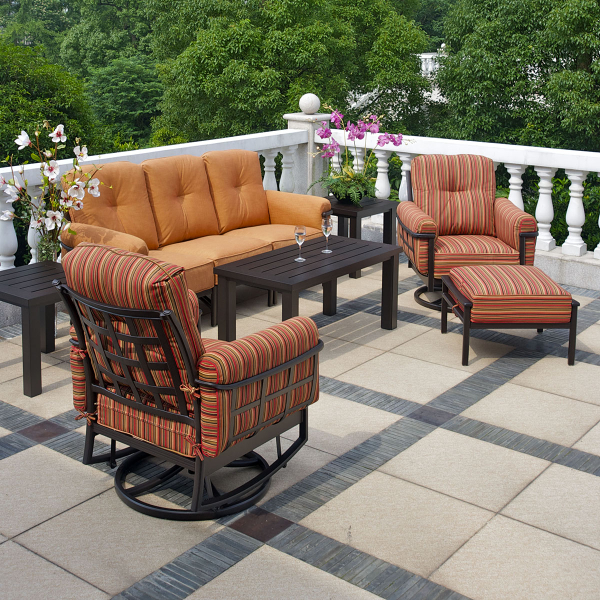 Stratford estate deep seating collection by hanamint for Hanamint patio furniture