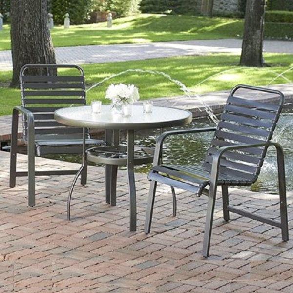 Landings strap dining by woodard family leisure for Outdoor furniture quotes