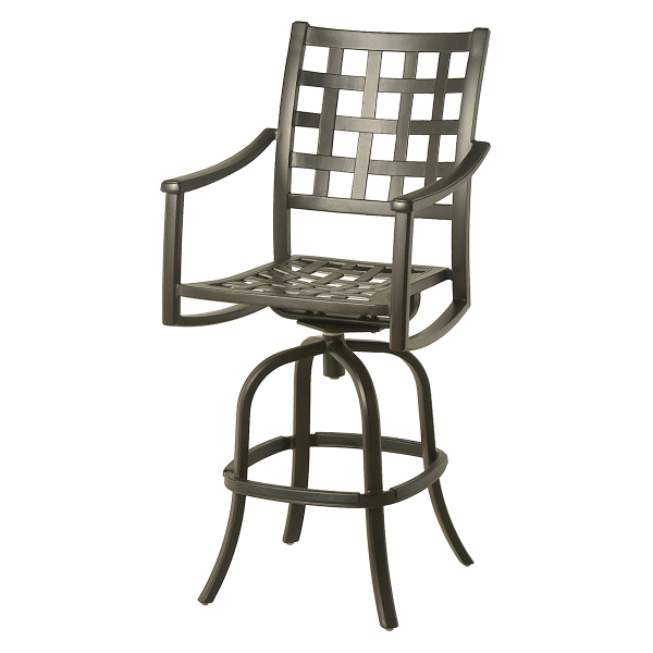 Stratford Swivel Bar Stool by Hanamint Family Leisure : Casual Patio Furniture 7055 from familyleisure.com size 600 x 600 jpeg 121kB