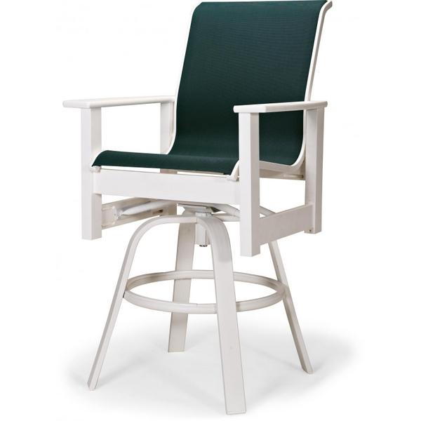 leeward mgp sling bar height swivel arm chair by telescope family