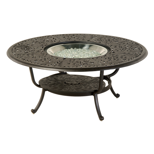 Chateau 48 Round Gas Fire Pit Table By Hanamint Family Leisure