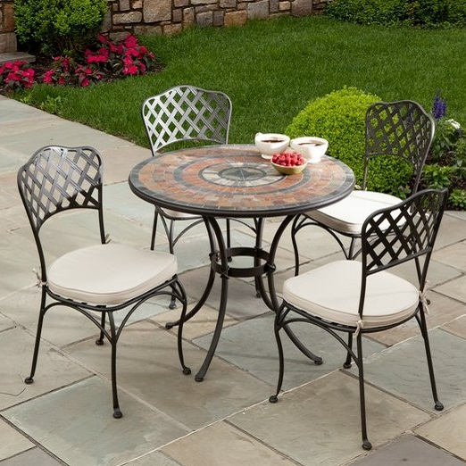 The Asti Marble Mosaic Outdoor Dining Collection