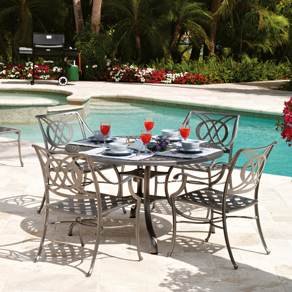 Cadiz Cast Aluminum Dining Collection by Telescope