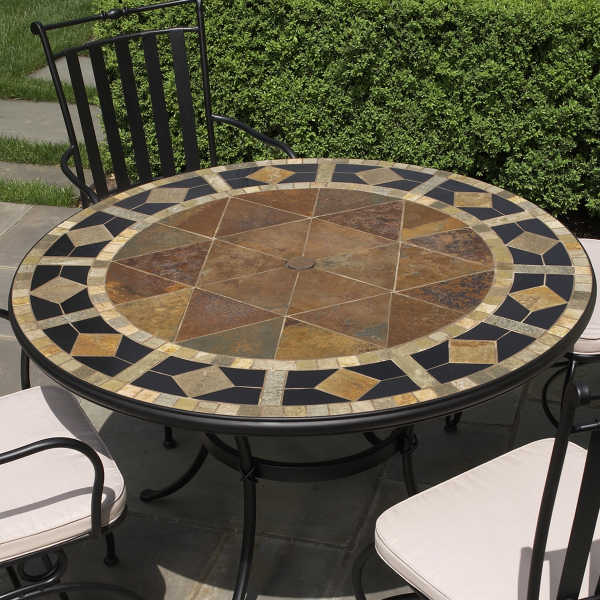 5 Piece San Marco Mosaic Patio Dining Set From Alfresco