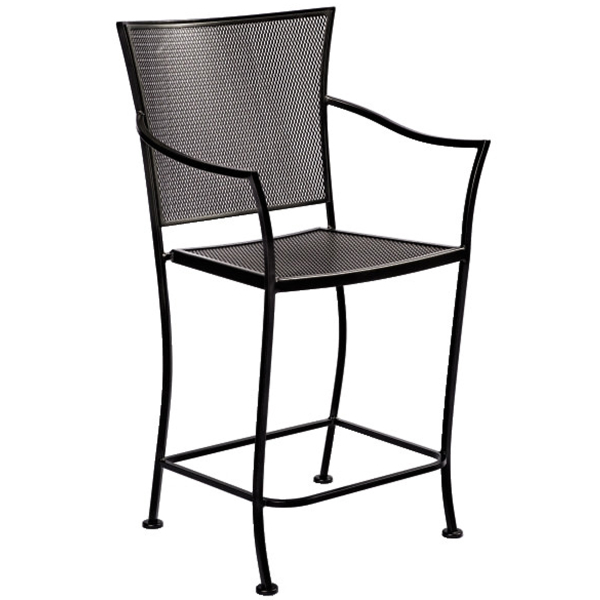 Amelie outdoor patio balcony stool by woodard outdoor furniture family leisure - Advantages of wrought iron patio furniture ...