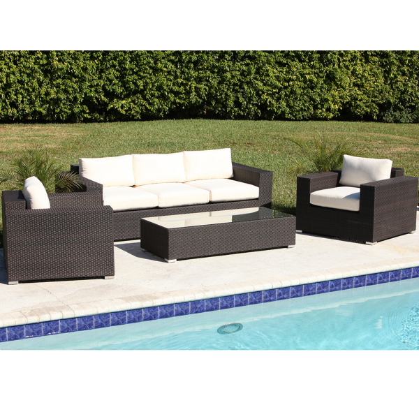 Antigua deep seating set by leisure select family leisure for Antigua wicker chaise