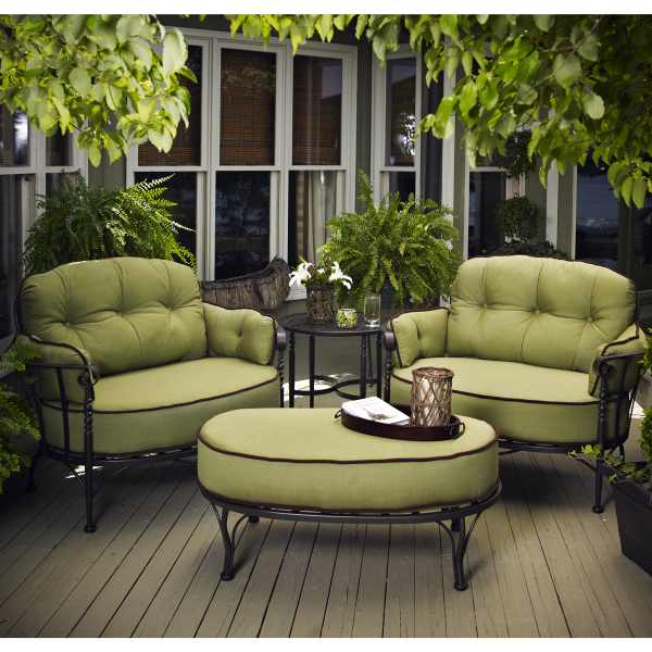 Athens deep seating by meadowcraft outdoor furniture for Best wrought iron patio furniture