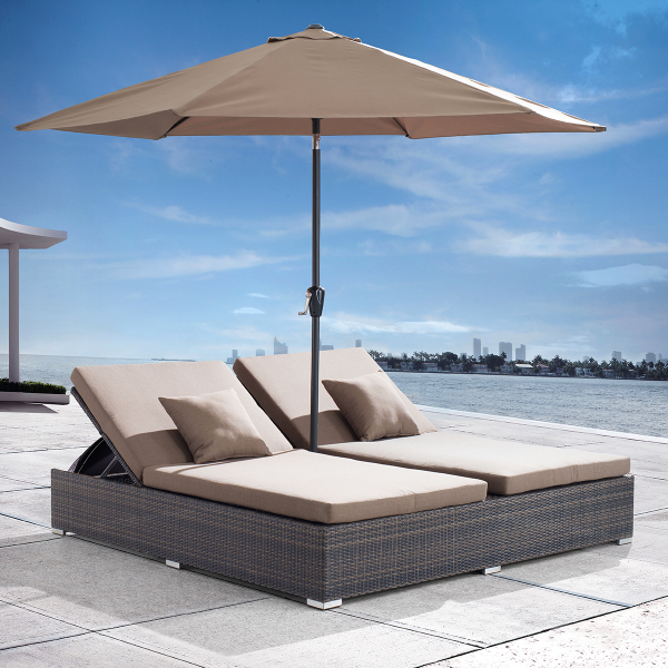 Atlantic Double Chaise Lounge by Zuo Modern