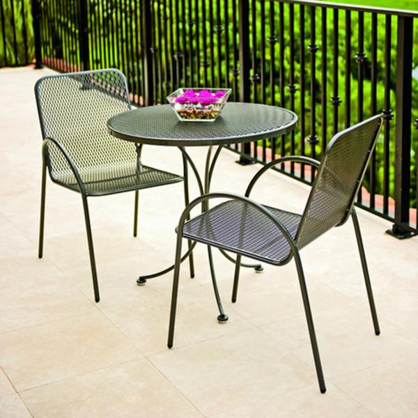 Avalon bistro set by woodard outdoor furniture family for Bistro outdoor furniture