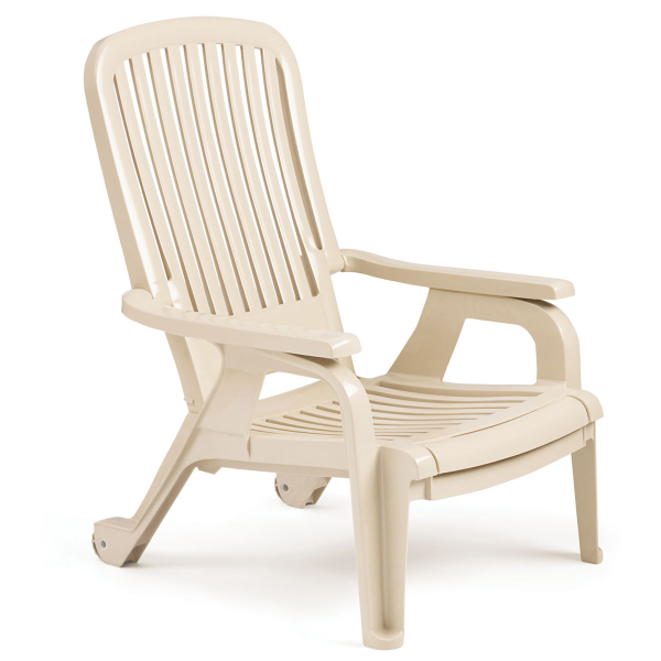 Bahia Stacking Deck Chair Sandstone - 4 Pack by Grosfillex ...