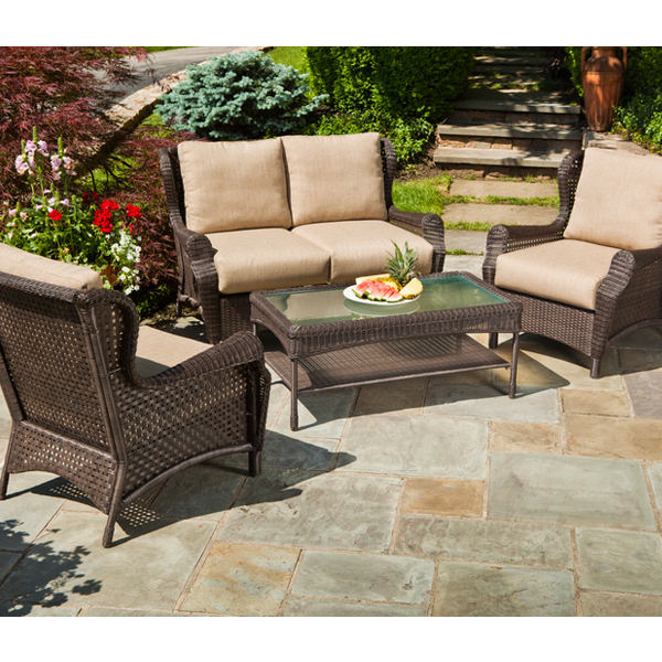 Bar Harbor 4 Piece Wicker Group By Alfresco Home Family