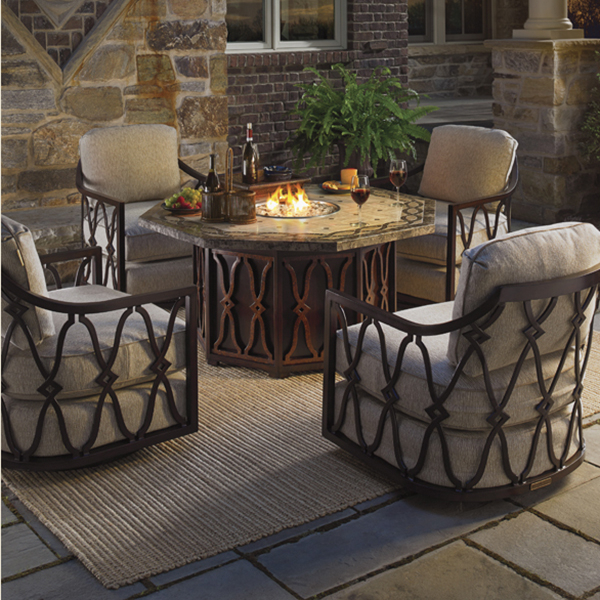 Black Sands Fire Pit Set by Tommy Bahama Outdoor Furniture