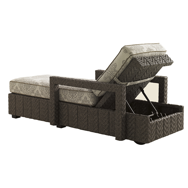 Blue olive chaise lounge by tommy bahama outdoor for Blue sling chaise lounge