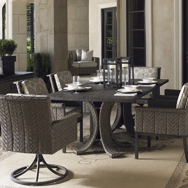 Blue olive dining set by tommy bahama outdoor furniture for Olive green dining room ideas