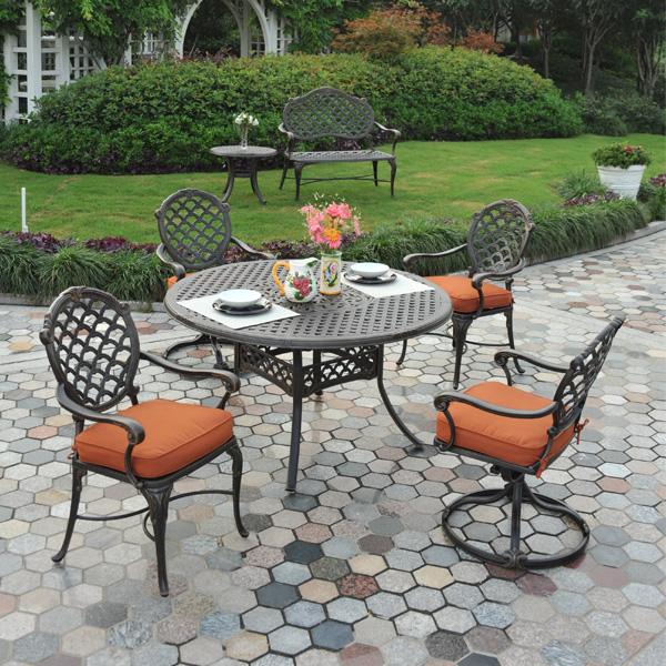 bordeaux cast aluminum dining patio furniture by hanamint