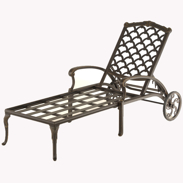 Bordeaux outdoor chaise lounge by hanamint family leisure for Cast iron chaise lounge