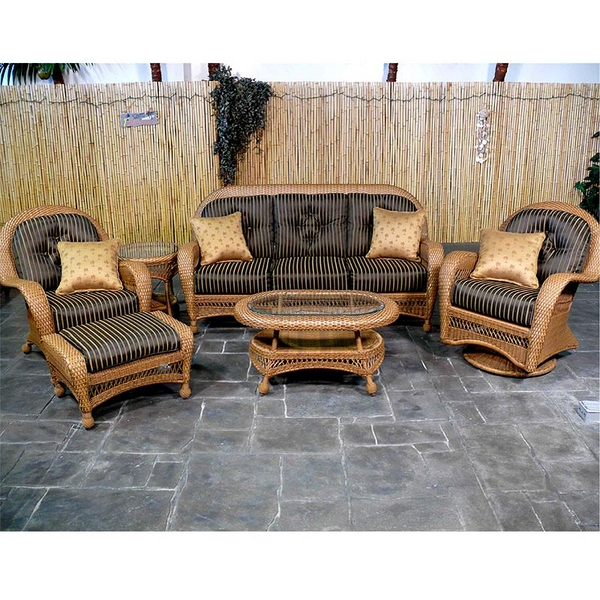 Cabo Deep Seating Wicker Patio Furniture by Bahama Winds