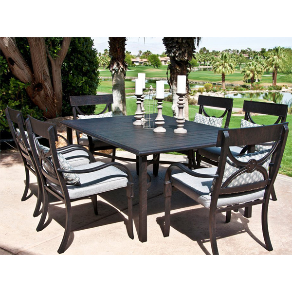 Outdoor patio dining furniture aluminum decoration news for Outdoor dining furniture