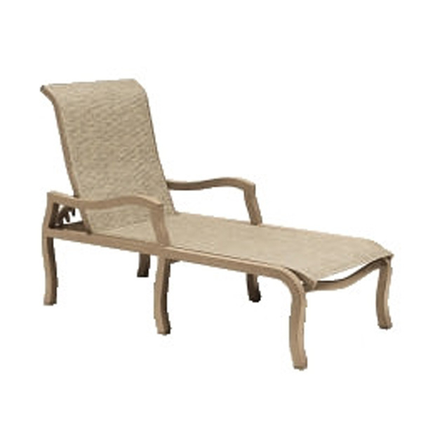 Carson Sling Outdoor Patio Chaise Lounge by Woodard