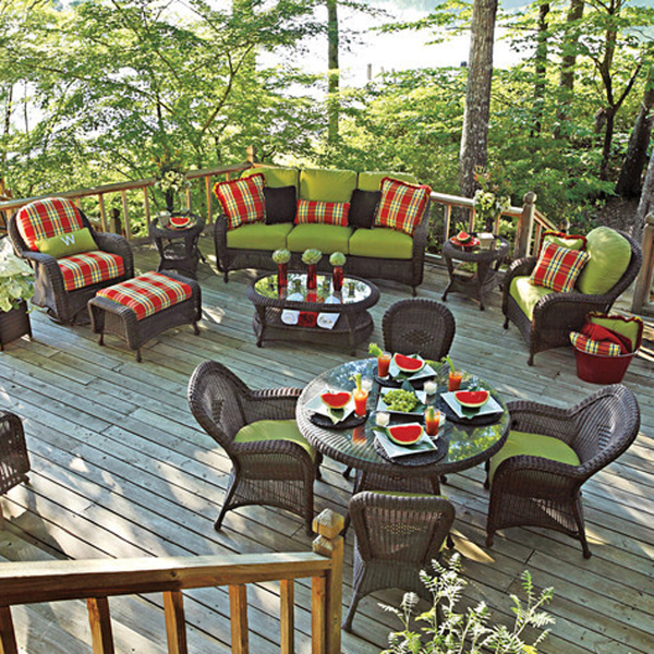 Classic Deep Seating Wicker Patio Furniture by Summer