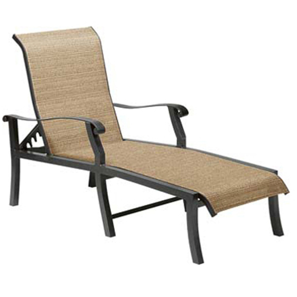 Cortland Sling Adjustable Chaise Lounge by Woodard Patio Furniture
