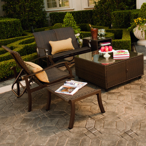 wicker patio furniture with a transitional style that will match any