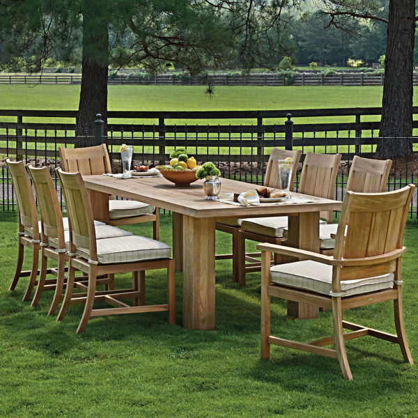 Croquet Teak Dining Patio Set Collection By Summer