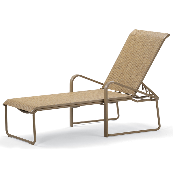 Dash sling chaise lounge by telescope family leisure for Casual chaise lounge