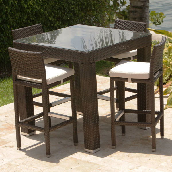 Dumont 5 Piece All Weather Bar Height Dining Set by Leisure Select
