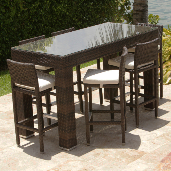 bar height patio table set rh imuasia us Aluminum Outdoor Tables and Chairs Aluminum Outdoor Tables and Chairs