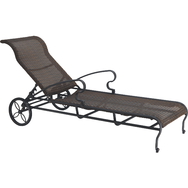 Florence woven chaise lounge by gensun family leisure for Cast iron chaise lounge