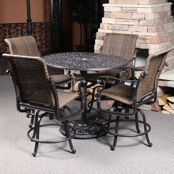 Florence Woven Bar Height Patio Set by Gensun