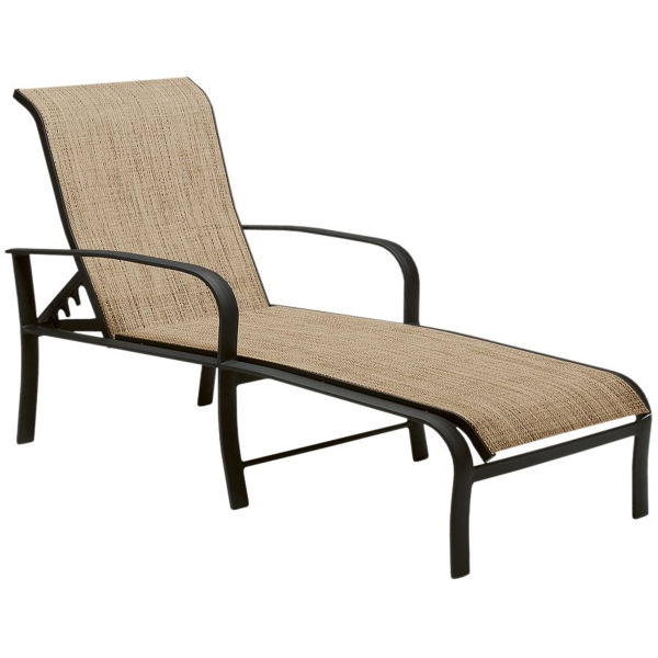 Fremont Adjule Chaise Lounge By Woodard Patio Furniture