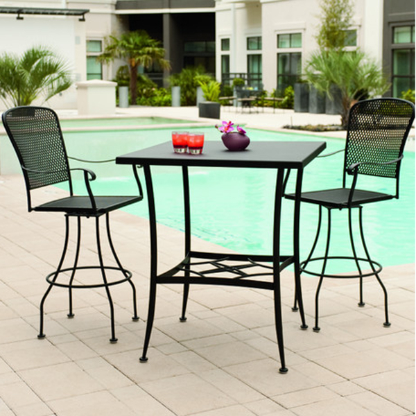 fullerton bar height by woodard outdoor furniture family leisure