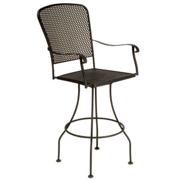 Fullerton Swivel Bar Stool By Woodard Outdoor Furniture
