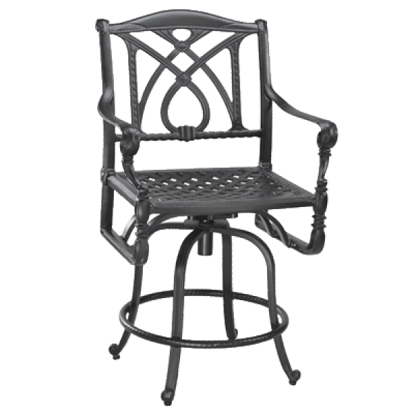 Grand Terrace Swivel Balcony Stool by Gensun | Family Leisure