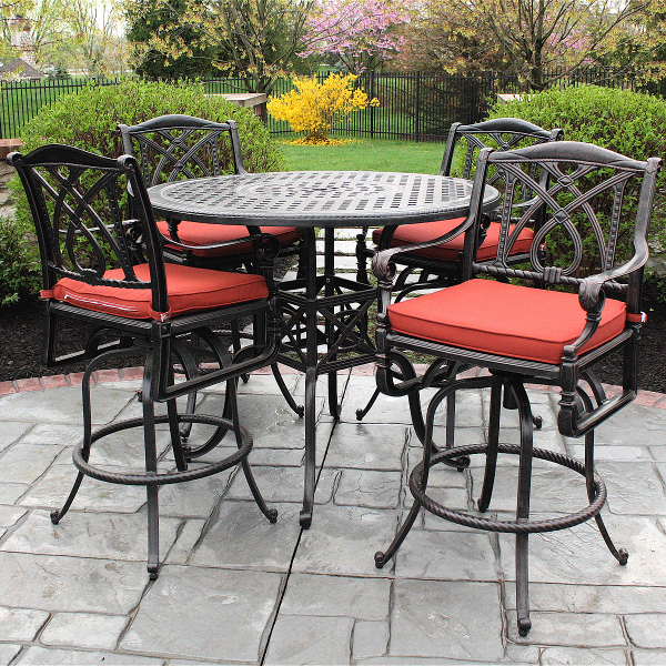 Outdoor patio bar set patio design ideas for Terrace chairs