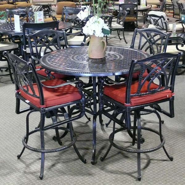 Grand Terrace Bar Height Patio Set by Gensun | Family Leisure